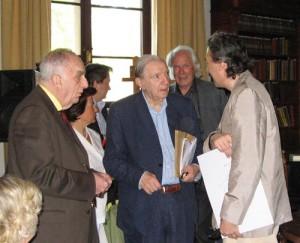 MARIO BORTOLOTTO, MARIO MESSINIS, GIAN PAOLO MINARDI E ALBERTO CAPRIOLI - SERMONETA, GIARDINI DI NINFA, GIUGNO 2007